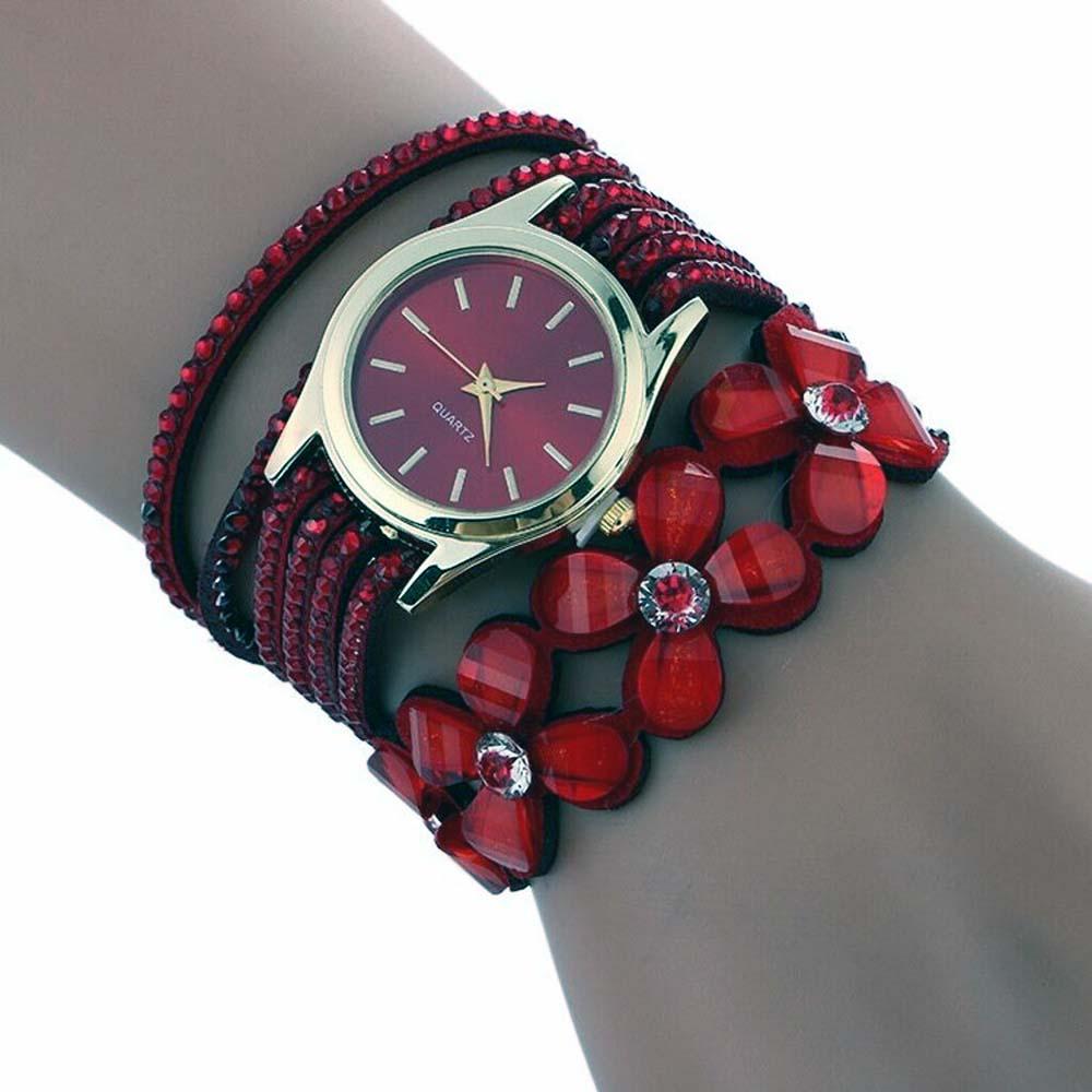 Kadın kol saati kirmizi